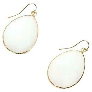 Ann Taylor Loft Metallic Facet Stone Drop Earrings